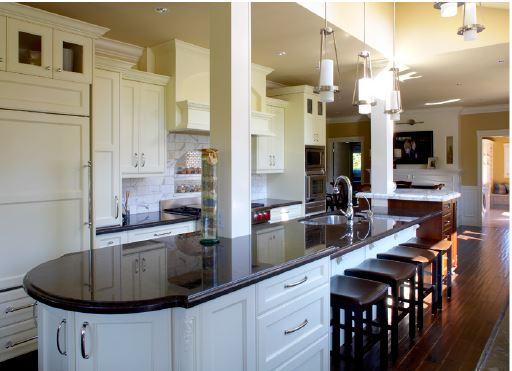 Modern classic white kitchen island