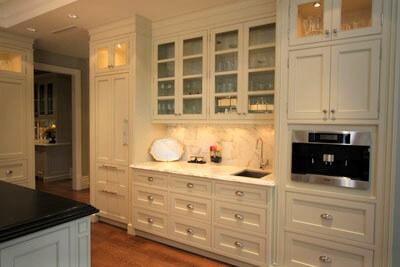 white kitchen prep zone