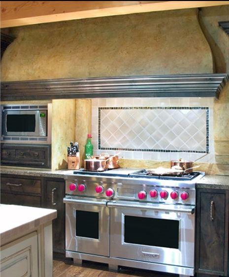 microwave in plaster niche