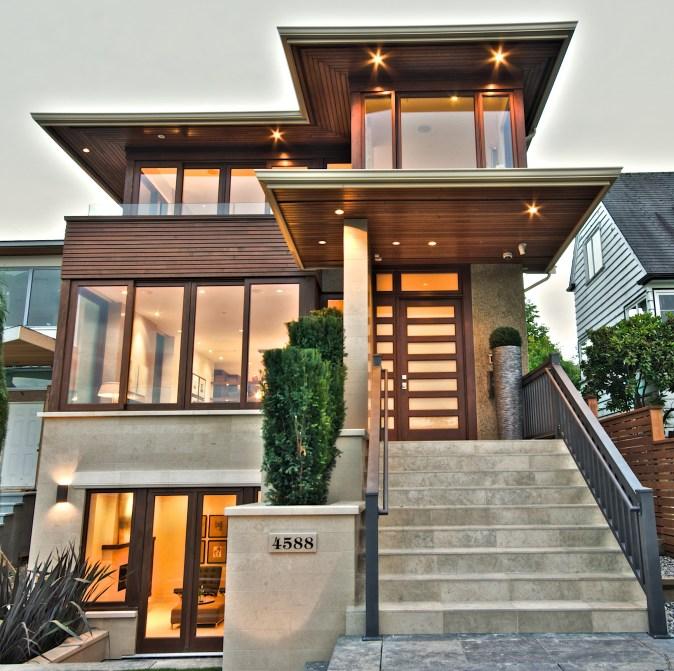 Exterior of West Coast Contemporary Spec Home