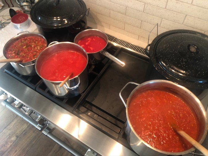 canners and sauce pots for canning
