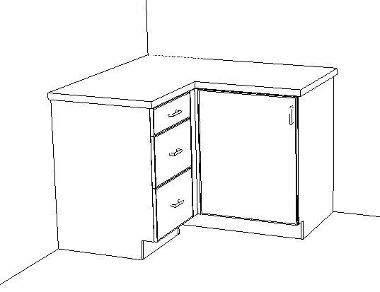 blind corner base cabinet