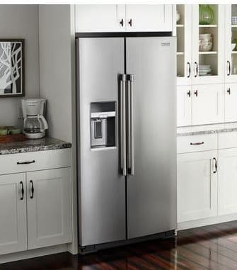 Side by Side fridge counter drop off
