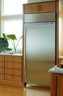 All fridge with landing counter beside