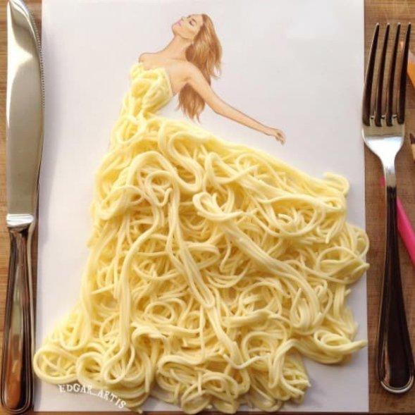 модные наряды из еды