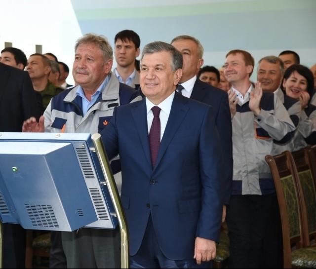 Мирзиеев заложил первый камень медного рудника
