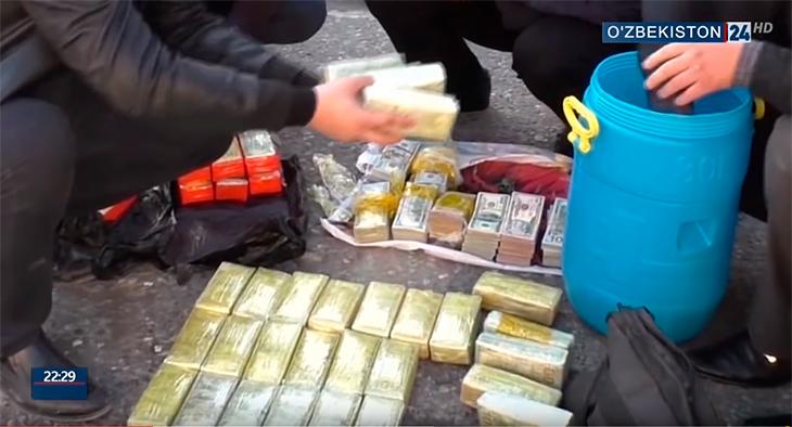 Бидоны с долларами нашли у контрабандистов из Ташкента