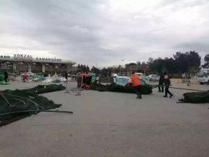 Новогодняя елка рухнула в Самарканде