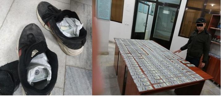 Узбек пересекал границу в кроссовках за $ 40000