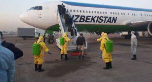 Самолет с 250 узбекистанцами прибыл из Пекина в Ташкент