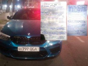 Дрифтун на BMW оштрафован за ночные забавы в Ташкенте