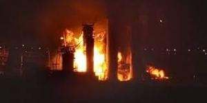 Завод «Карвон Йўли» горел на рассвете в Ташкенте