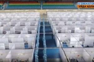 Распределительный центр на стадионе «Ёшлик» столицы переполнен пациентами