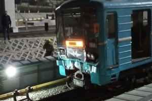 Два поезда столкнулись в ташкентском метро