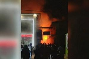 Шесть продуктовых маркетов сгорело в ночных пожарах под Самаркандом