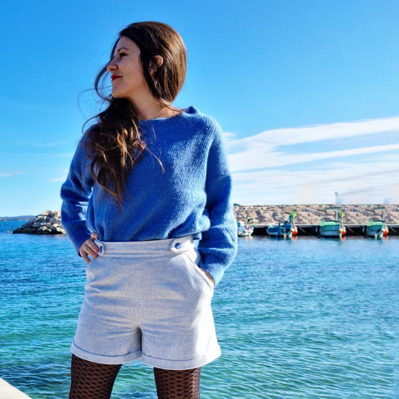 Short Deauville bleu