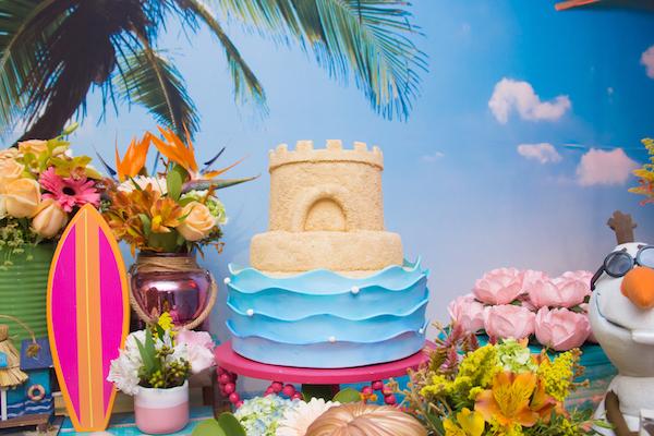 bolo festa infantil praia