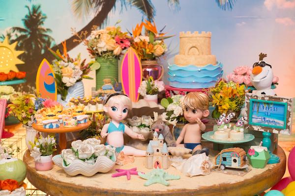 frozen elsa na praia festa infantil