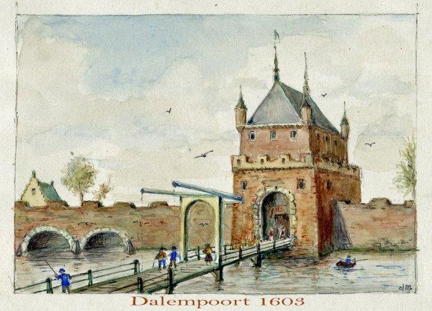 Dalempoort 1603 aquarel