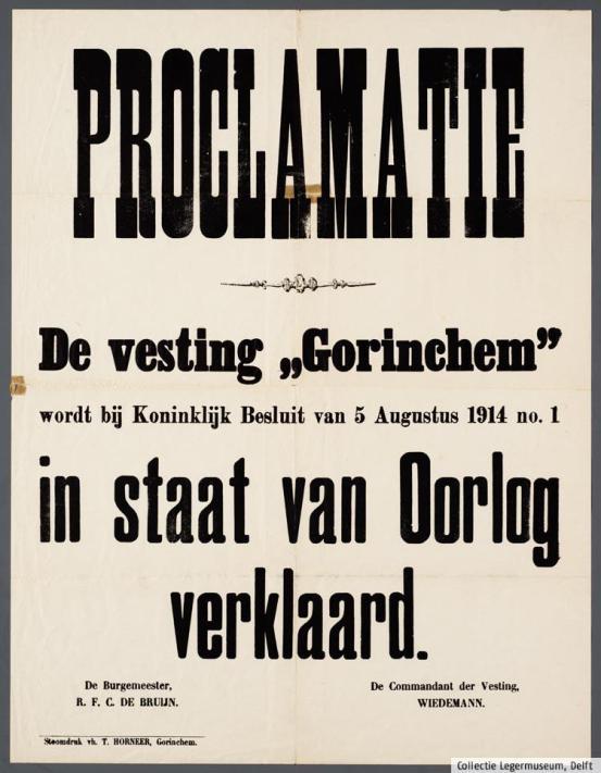 Staat van Oorlog vesting Gorinchem