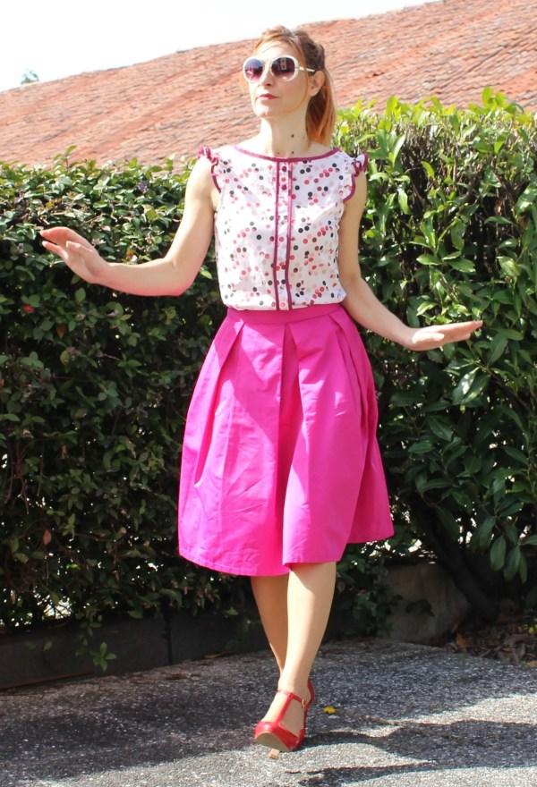 Camicetta blusa lindy hop anni 40