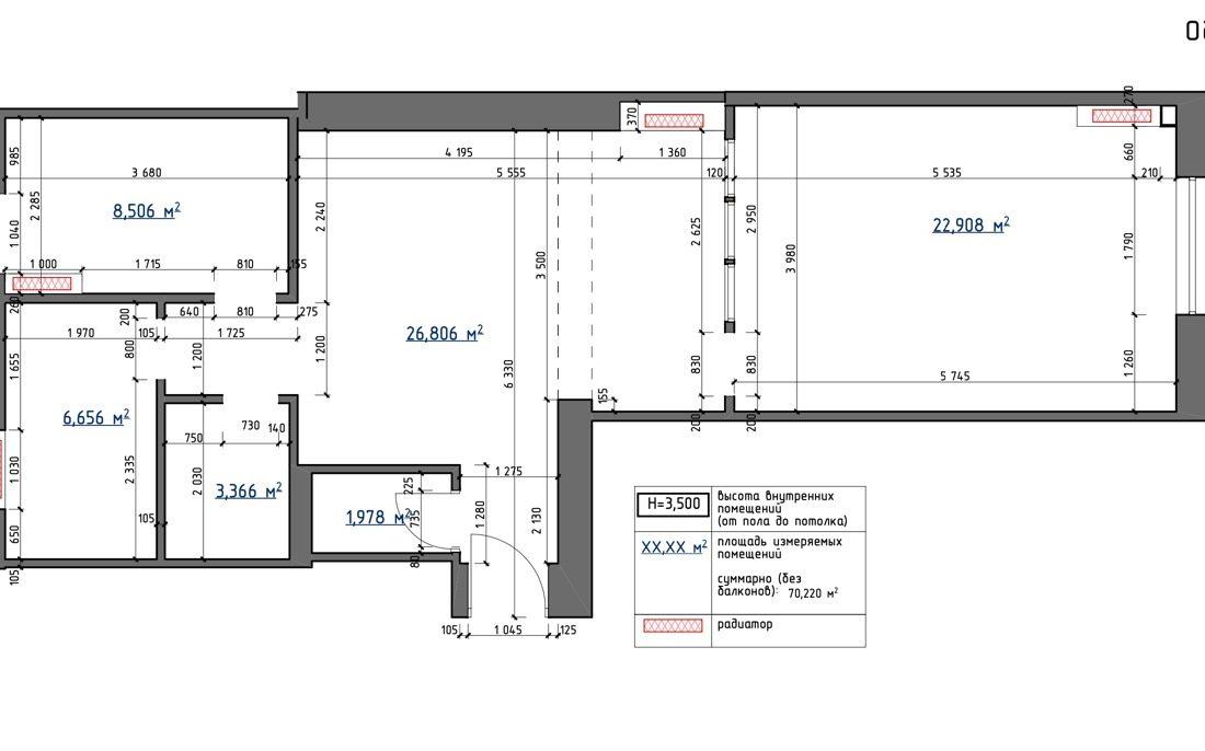 prorizna 9 apartment plan