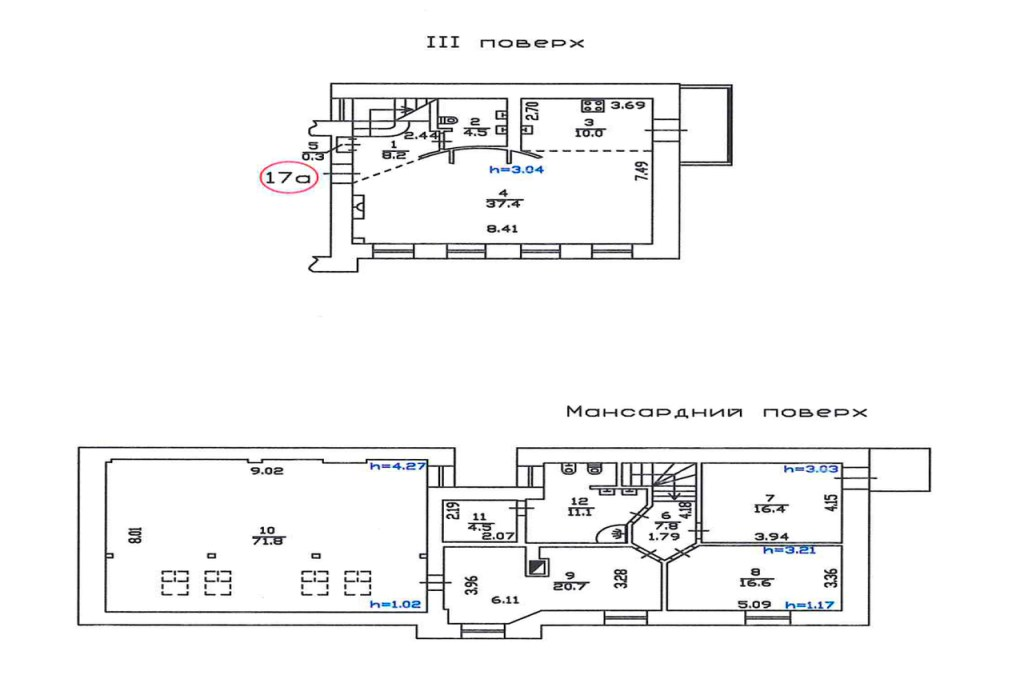 Antonovycha 7v apartments plan