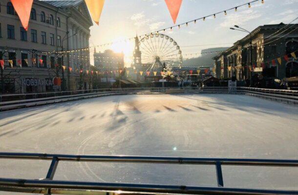 skating rink on Kontraktova square kiev