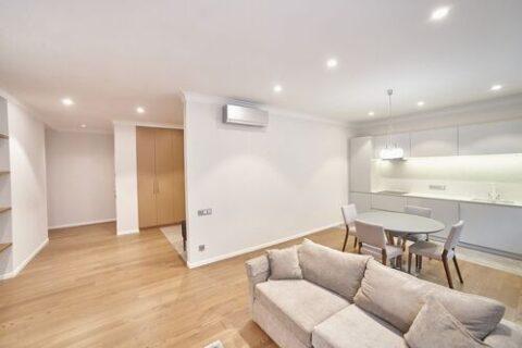 sofa and hall