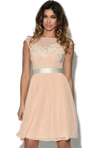 Vestry | Lace Bust Nude Prom Dress at Vestry