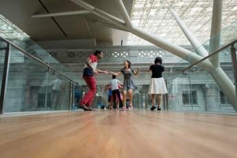 Figure 4 Swing dancing on upper bridge