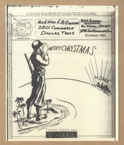 Victory Mail Christmas Card 1944