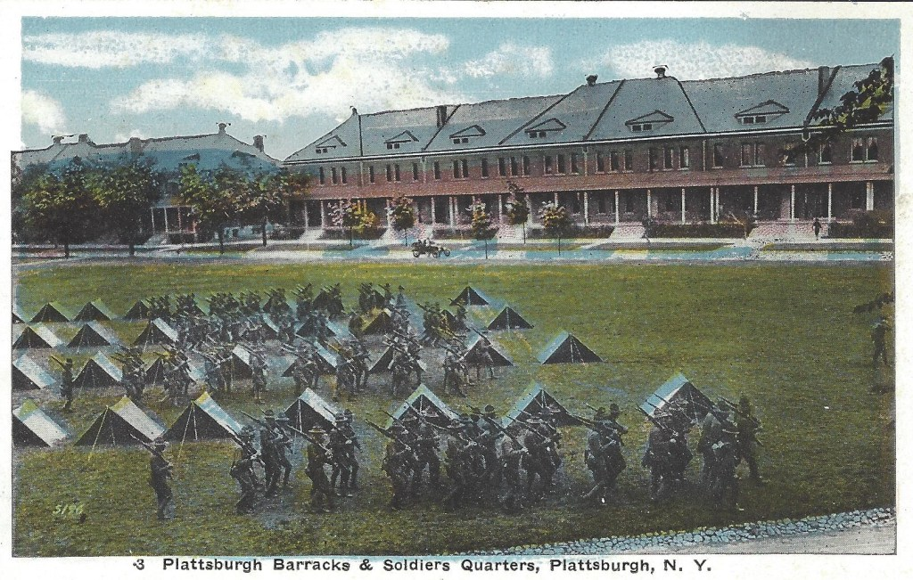 Plattsburgh Barracks Postcard