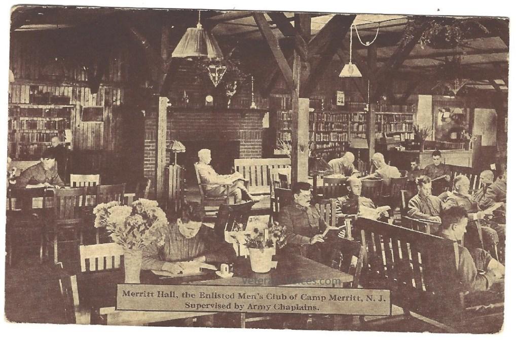 Merritt Hall at Camp Merritt, 1919