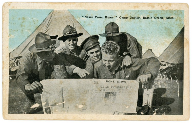"""News From Home,"" Camp Custer, Battle Creek, Michigan, World War I"