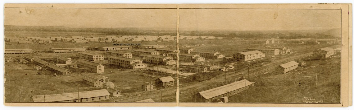 A panoramic photo of Camp Funston during World War I (right side)