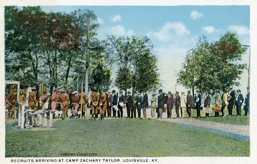 """Recruits Arriving at Camp Zachary Taylor, Louisville, Kentucky"""
