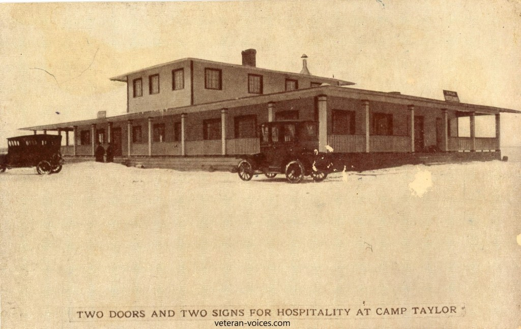 """Two Doors and Two Signs for Hospitality at Camp Zachary Taylor, Louisville, Kentucky"""