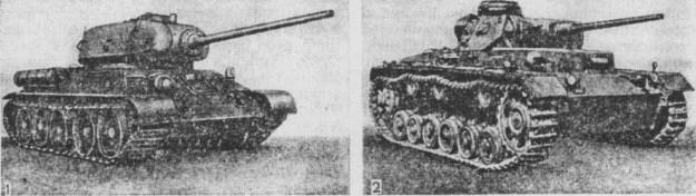 Танки Советский Т-34 и немецкий Т-III.jpg