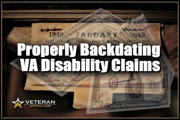 Backdating a VA Disability Claim blog