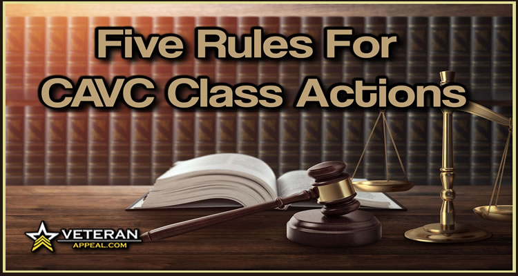 Five Rules For CAVC Class Actions