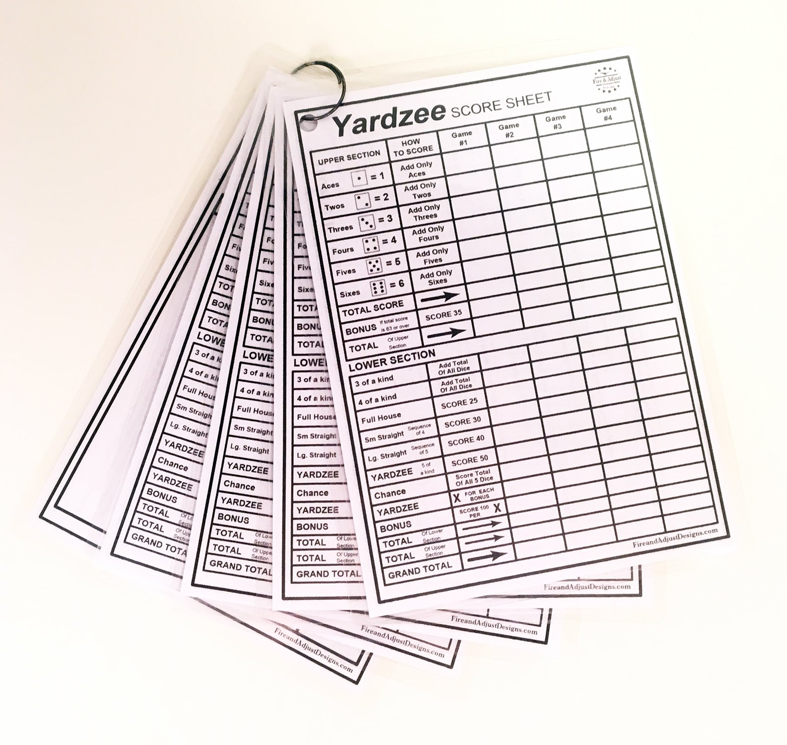 graphic about Yardzee Printable called Yardzee and Yarkle 5\