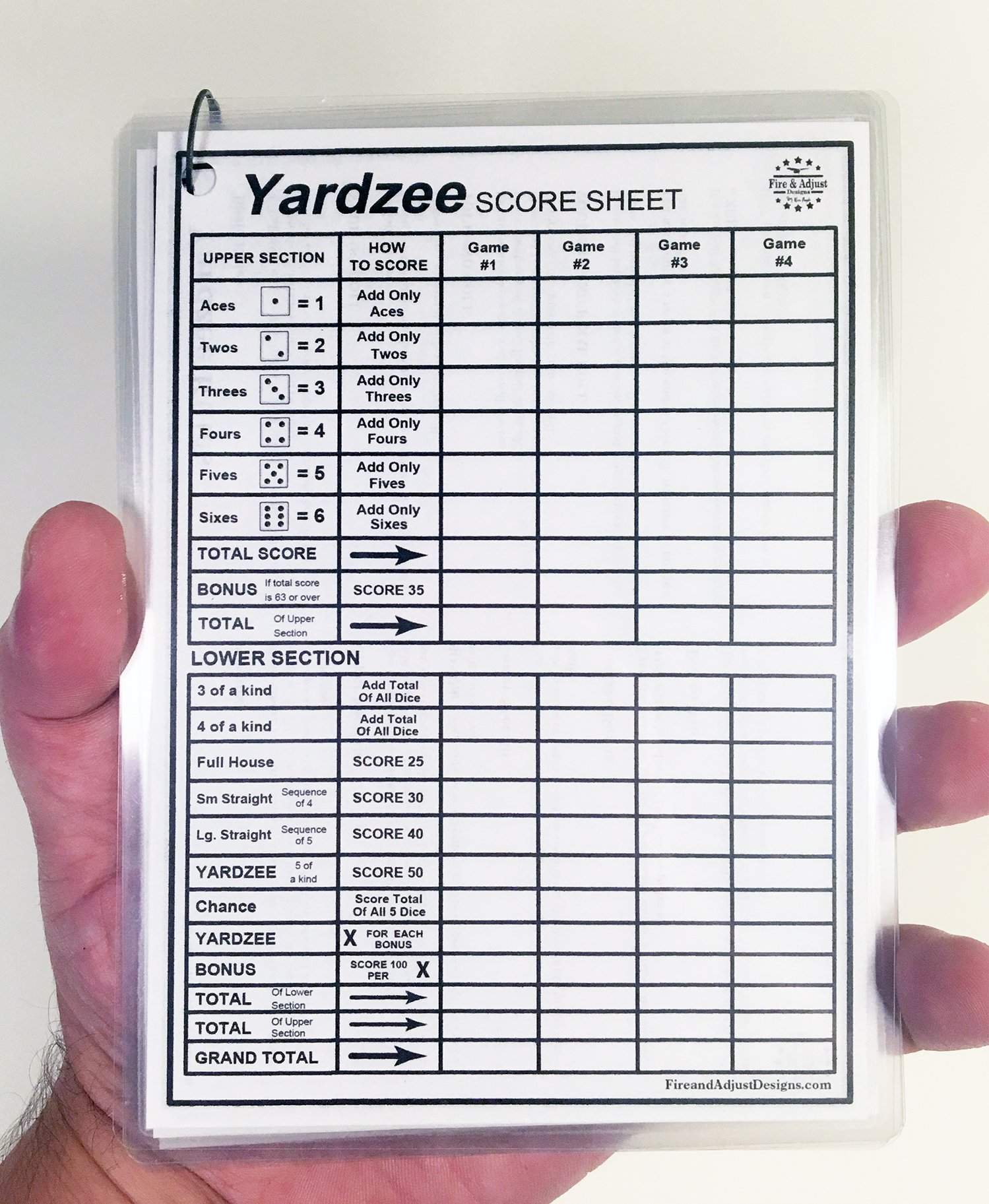 graphic regarding Yardzee Score Card Printable Free identify Yardzee and Yarkle 5\