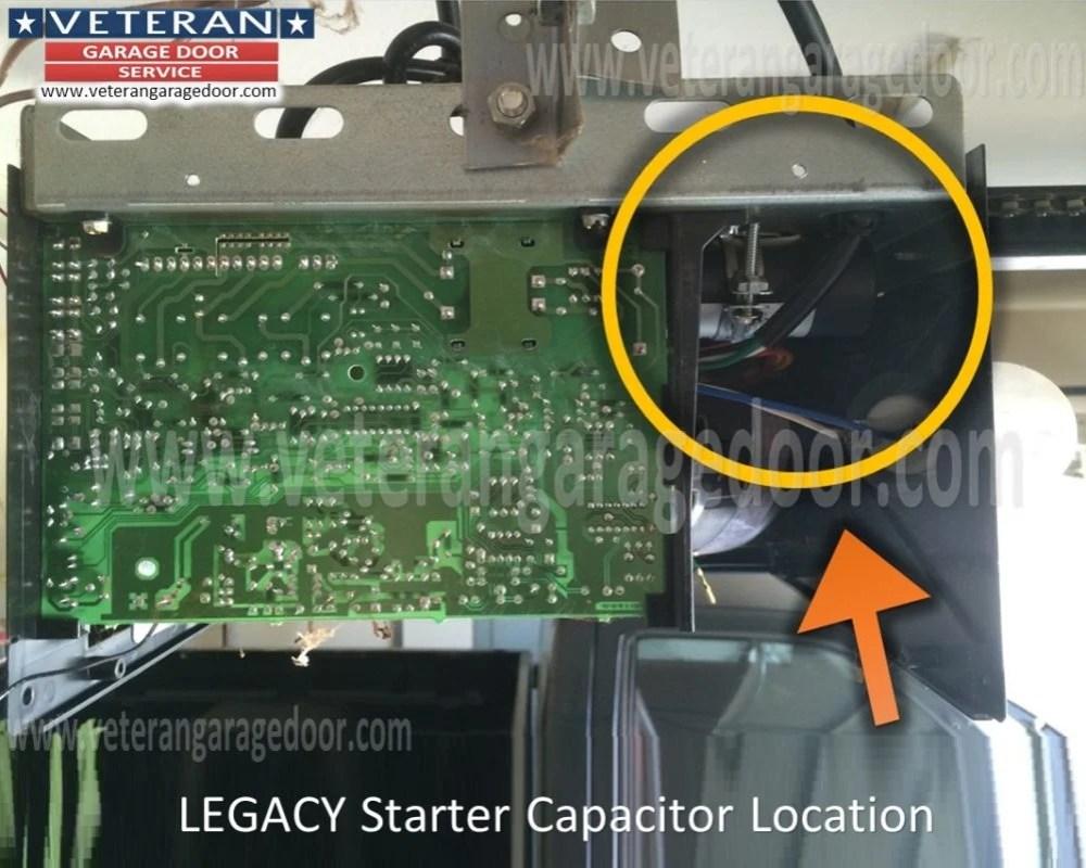 medium resolution of  garage door opener wiring diagram overhead legacy starter capacitor