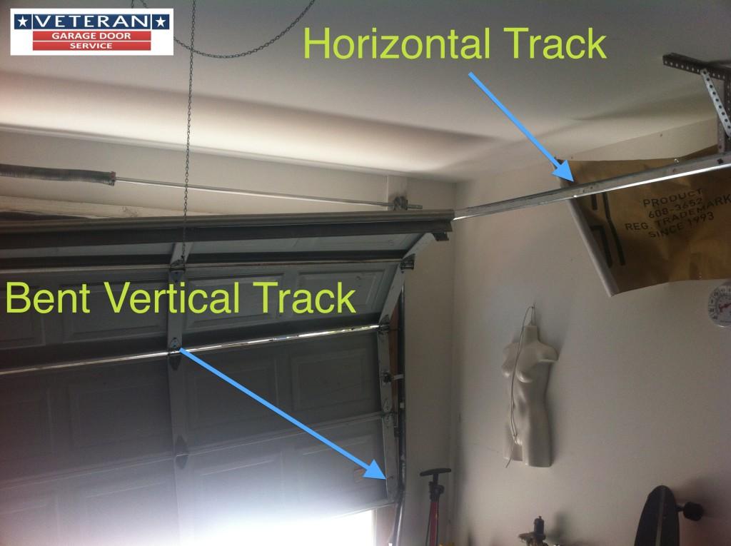 How To Fix Bent Garage Door Track  Dandk Organizer