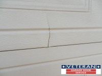 Is it possible to repair a crack on a garage door Section