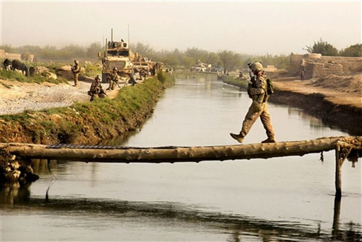 Veteran Mental Health requires Balance, as in the image of a U.S. Marine Corps NCO crosses a bridge in Helmand province, Afghanistan, Sept. 5, 2009. DoD Photo