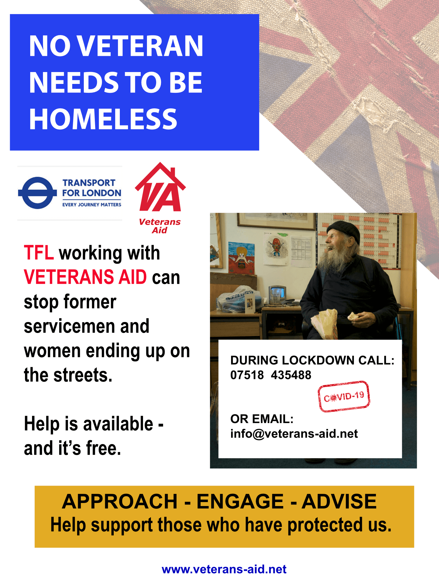 TFL and Veterans Aid Poster