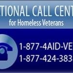 National Call Center for Homeless Veterans 1-877-424-3838