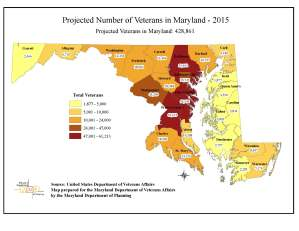 Projected Number of Veterans in Maryland